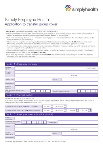 teachers health fund application form