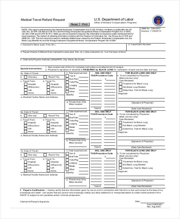 travel document application form 2017