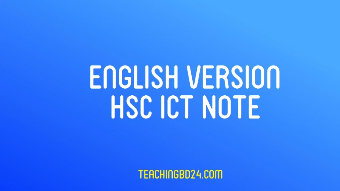 web and software applications hsc notes