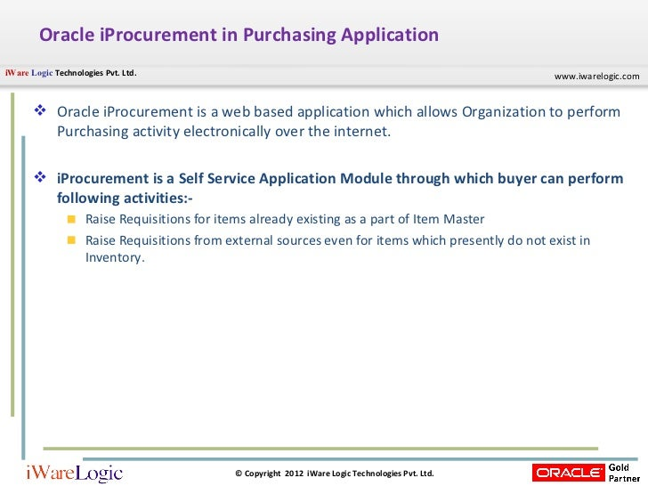what is a procurement application